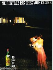 Publicité Advertising 1990 Scotch Whisky J&B