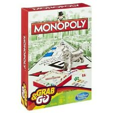 NEW HASBRO MONOPOLY GRAB & AND GO TRAVEL BOARD GAME B1002