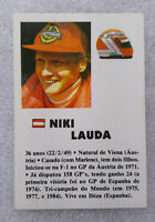 RARE Vintage F1 ✱ NIKI LAUDA & MARLBORO MCLAREN ✱ Collection Calendar 1985 PT