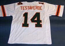 VINNY TESTAVERDE CUSTOM UNIVERSITY OF MIAMI HURRICANES W JERSEY THE U HEISMAN