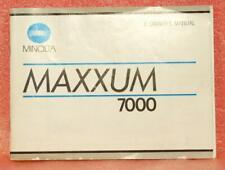 Minolta Maxxum 7000 instruction book, Exc+