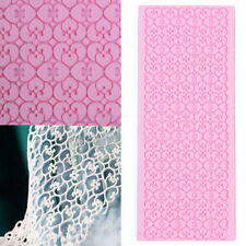 Silicone Lace Fondant Embossed Mold Sugarcraft Cake Decorating Mould Tool LS