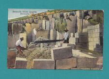 Bermuda  Stone Quarry Vintage Photograph 30's  Postcard Men at work Antique