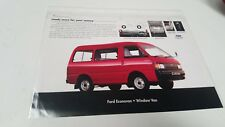 1980s ? FORD ECONOVAN Window  Van Original Sales Leaflet MALAYSIA Issue
