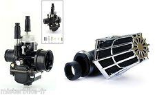 Kit Carburateur Racing Black Type PHBG 19 + Filtre Cornet Booster Moto 50 AM6