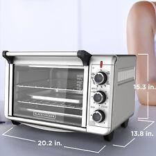 1500W Kitchen Convection 2-Shelf Toaster Oven 6-Slice 12 Pizza, BLACK+DECKER