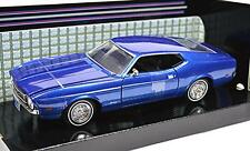 FORD MUSTANG SPORTSROOF 1971 '71 MOTORMAX 73327 1:24 DIECAST BLUE