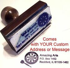 Dart Board Rubber Stamp With Custom Address/Message