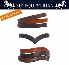 "15"" / 16"" / 17"" Empty Channel English Padded Bridle Browbands, 8mm, DIY"
