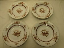 "Cathay by Liling Fine China 4 Coupe Soup Bowls Yung Shen 8-1/4"" Brown Floral"