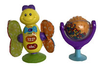 Vtech Spin N Learn Toy + Kiddicare Spin Toy High Chair Bright Lights Toy Bundle