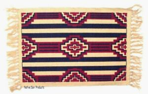 "Placemats Southwestern Geometric Native American pattern 13x19"" Canvas #153"