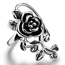 Fashion Women Jewelry Flower 925 Silver Women Wedding Engagement Ring Sz 6