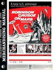 ROBINSON CRUSOE ON MARS pressbook, SCI-FI, Paul Mantee, Victor Lunden