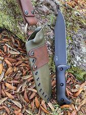 Custom Kydex Sheath With Leather Dangler For The Ka-Bar Bk7( no Knife )