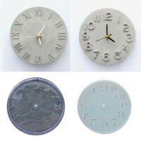 Cement Concrete Silicone Mold DIY Craft Clock Making Clay Plaster Mould