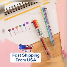 USA: 6-color Ball Point Pens 0.7mm school supply, multicolor pen