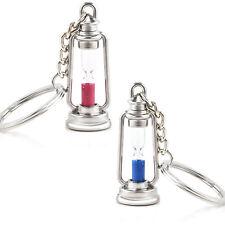 Metal lamp Shape Hourglass key chain Ring keychain Creative Trinket charms Gift