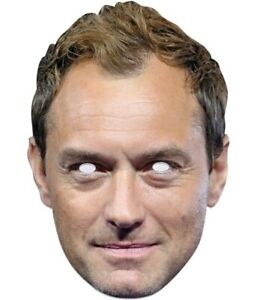 Jude Law Celebrity Single 2D Card Party Face Mask Fancy Dress Up
