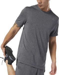 Reebok WOR Melange Tech Short Sleeve Mens Training Top - Grey