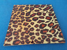 Leopard print coaster (Square) great gift FREE PERSONALISATION