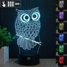 Harry Potter Gufo Owl 3D LED 7 Colore Luce Notturna Scrivania Lampade Regalo