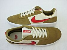 Nike Mens SB Team Classic Golden Beige Red Suede nylon Skate Shoes Size 10.5