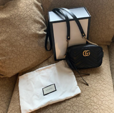 GUCCI GG Marmont Matelasse Camera mini quilted leather shoulder bag Black