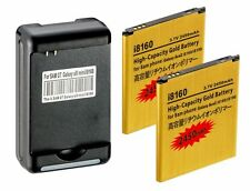 2x 2450mAh High Capacity Batteries +Charger -Galaxy Ace2, Duos, Exhibit, i8160