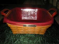 Longaberger 2005 Silver Bells Basket Combo