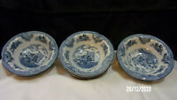 LOT SET OF  7 -  Johnson Bros Blue Willow Small Cereal Dessert Fruit Bowls, 6""
