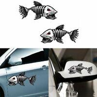 le vinyle drôle vehicle décoration squelette de poisson la vignette automobile