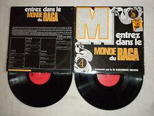 2 LP ENTREZ DANS LE MONDE DU RAGA (Musique indienne) LIBERTY LBS 83444/45 µ