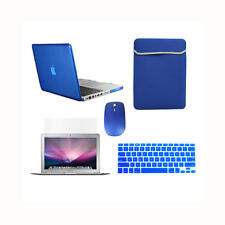 """5 in1 Crystal ROYAL BLUE Case for Macbook PRO 15"""" Retina+KeyCover+LCD +Bag+Mouse"""