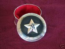 Round Antiqued Star Top Jewelry Treasure Trinket Box