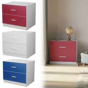 Orlando 2 Drawer Wooden Kids Bedroom Chest Cabinet Modern Storage Cupboard Wide
