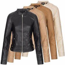 Damen Kunstlederjacke Jacke Übergangsjacke Bikerjacke Vero Moda VMLove Short