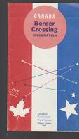 Canada Border Crossing Information 1963 Brochure