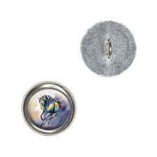 Horse Running - Painting - Metal Craft Sewing Novelty Buttons Set of 4