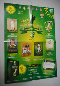 #MM.   PROMOTIONAL POSTER - 2009-10  SELECT CRICKET  CARDS