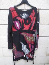 Robe DESIGUAL NEW & GOOD noire à motifs manches longues taille L
