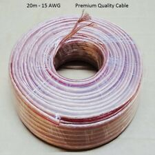 20m Meter 2 X 2mm Thick Loud Oxygen Free Speaker Wire Cable Super High Quality