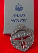NAAFI 'Brooch back' Cap Badge Boxed (H Quality Replica, info insert)