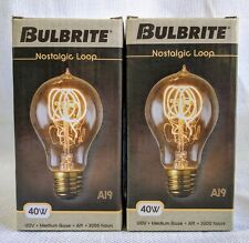 Bulbrite Nostalgic Antique Edison Filament Loop - (2 Pack) Light Bulbs 40W 120V