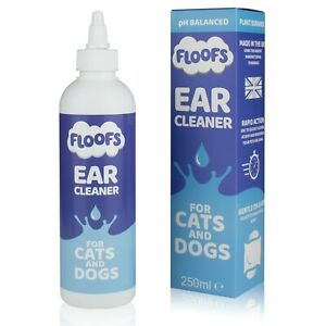 Floofs Dog and Cat Ear Cleaner *VET STRENGTH*Drops,Itching,Mites,Wax,Odours Pet