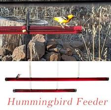 New Hummingbird Feeder Transparent Pipe with Holes Outdoor Hummingbird Feeder