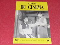 [REVUE LES CAHIERS DU CINEMA] N°98 # AOUT 1959 MIZOGUCHI Godard EO 1rst Print