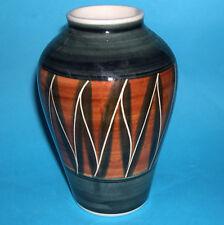 Vintage Art Pottery - Attractive Abstract Design Gloss Glazed Balustrade Vase.