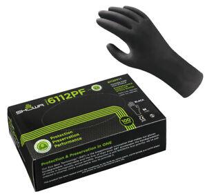100 Stück Showa 6112PF Nitril-Handschuhe Einweghandschuhe - biologisch abbaubar