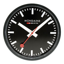 Mondaine Swiss Railways Black Aluminium Wall Clock A990.CLOCK.64SBB 250mm £175